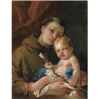 sant'antonio da padova col bambino by francesco zugno the younger