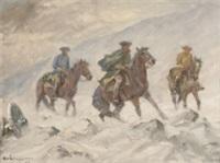 karoliner i snöstorm by alexander langlet