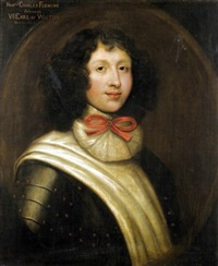 portrait of the honourable charles fleming, later 7th earl of wigton by william aikman