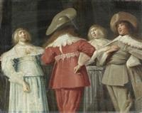 elegant figures conversing in an interior by dirck hals