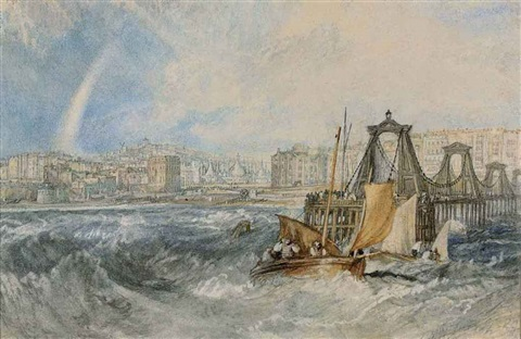 the chain pier brighton by joseph mallord william turner