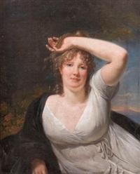 portrait de jeune femme by henri-pierre danloux