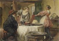 the flirtatious serving girl by edgar bundy