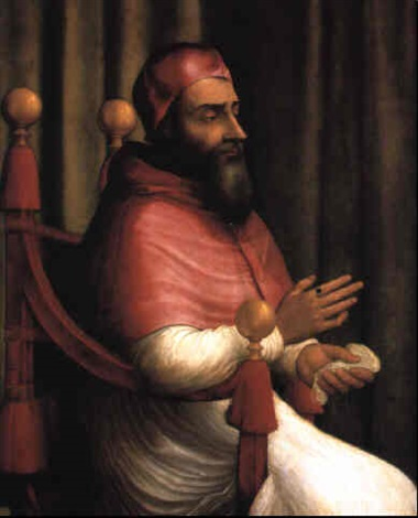 portrait of pope clement vii by giuliano bugiardini