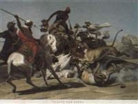 la chasse aux lions dans le désert by jean-pierre-marie jazet
