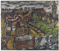 dalston lane (summer) by leon kossoff