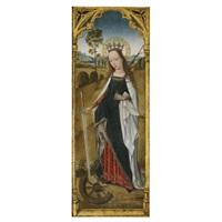saint catherine (+ saint agnes en grisaille, verso) by flemish school-brussels (15)
