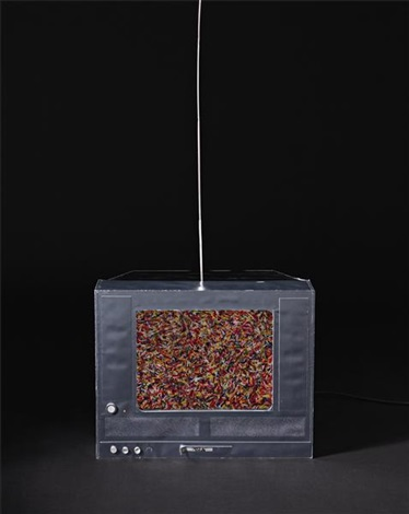untitled tv sprinkles by tom friedman