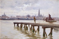 le port d'anvers by henri santin