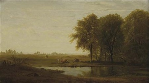 an afternoon in the fields by richard william hubbard