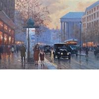 paris street scene by anton karssen