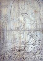 scène dintérieur á tanger preparatory drawing by josé tapiro y baro
