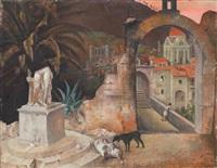 paysage à la statue brisée by francisco pedro arnaldo