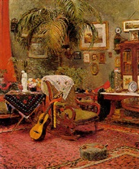 an exotic interior by peter leslie