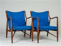 model 45 arm chairs (pair) by finn juhl