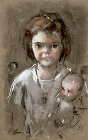 niña con muñeca by jaume queralt