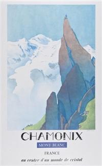 chamonix, mont blanc by samivel