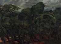 treescape by jehangir sabavala