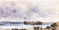 on the coast of st. kilda by henry eason davies