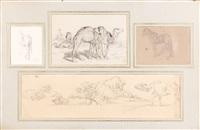 chameaux, chevaux et buffles (4 works) by eugène fromentin