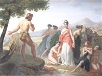 ulysse demandant des secours à nausicaa, fille du roi alcinous by pierre antoine augustin vafflard