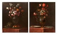 bouquet de fleurs aux fruits (+ bouquet de fleurs aux noisettes et au verre; pair) by benito espinos