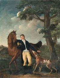 cavalier, probablement un membre de la colonie française de philadelphie by denis alexandre volozan