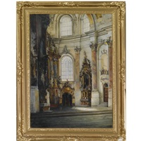 interior of a church by wilhelm kreling