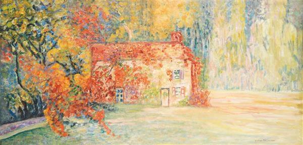 Maison Dans Un Jardin Fleuri By Victor Charreton On Artnet