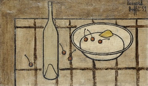 still life with cherries by bernard buffet