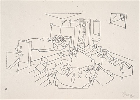 quergebäude vier treppen pl 49 from ecce homo by george grosz