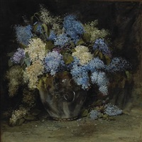 still life with lilacs by william hubacek