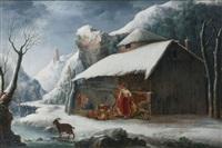 paysage d hiver by francesco foschi