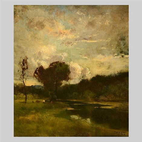 landscape with cows by william keith