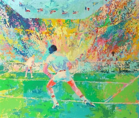 stadium tennis by leroy neiman