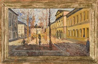rue du grand hospice animée à bruxelles by henri victor wolvens