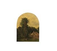 le repos du jeune paysan et de son chien à l'orée du bois by théophile victor emile lemmens
