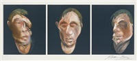 trois études pour un autoportrait (after three studies for a self-portrait 1983) by francis bacon