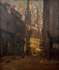 vannes - scène de rue by joseph louis lépine