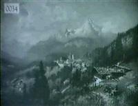 swiss mountain village by h. giller