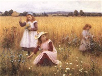 gathering summer flowers by william affleck