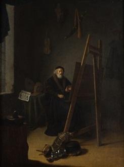el estudio del pintor by jacob van spreeuwen