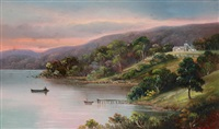fisherman's point, lake connewarre near geelong by charles (chas) young