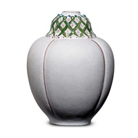 gourd-shaped cabinet vase by taxile doat