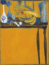 table and fruit by brett whiteley