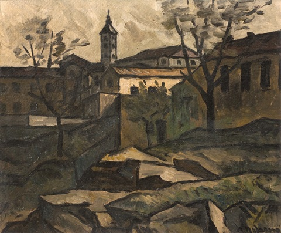 paisaje con iglesia by alceu ribeiro
