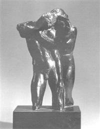 nudes embracing by alexander stirling calder