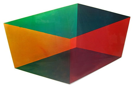 cube i, from the cube series by ronald davis