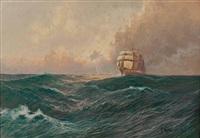 segelschiff by franz waldegg
