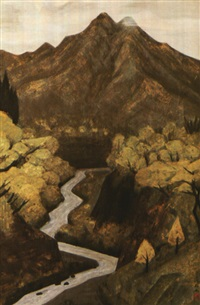 river and mountain by kyujin yamamoto